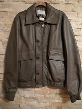 $ 2,450 K GF FERRE PEARLIZED GREY BOMBER LEATHER JACKET MENS ITALY SIZE 54/XL