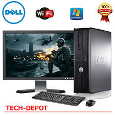 "Dell Desktop Computer Core 2 Duo 4GB 250GB HD Windows 10 w/ 17"" LCD Monitor-FAST"