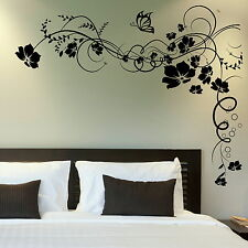 Corner Flower Wall Stickers! Home Transfer Graphic / Floral Decal Decor Stencils