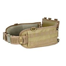 NcSTAR Black Tactical Military MOLLE Padded Contoured Battle Belt w/ Pistol Belt