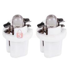 2 Lampade Lampadine T5 a LED Auto Cruscotto Lato Bulb Interno Luce Bianco DC 12V