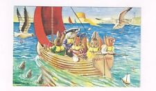 "Vintage 1983 Medici Society Post Card Racey Helps ""Sail Around the Bay"""