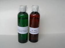4% HCL Activator + Sodium Chlorite Solution  4oz ea. Water Purification drops