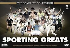 The Sporting Greats Collection - Ali Bradman Federer Bolt Moses Nadal 9 x DVDs