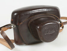 GENUINE LEITZ LEICA BRAND BROWN M SERIES CAMERA CARRYING CASE WITH STRAP AND PAD