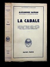 LA CABALE - SAFRAN [Alexandre]  - 1960 - Esotérisme