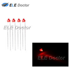 100pcs 1.8mm Diffused Red-Red Light LED Diodes DIP High Quality