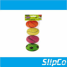 4 x ASSORTED RUBBER DOG PLAY BALLS CHEW TOY TRAINING & EXERCISE DURABLE RUBBER