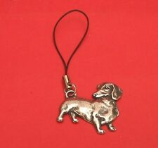 Dachshund Dog Pewter Mobile Phone USB Stick Charm Mothers Day Gift NEW
