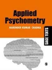Applied Psychometry (SAGE Texts), Chadha, Narender Kumar, Very Good, Paperback