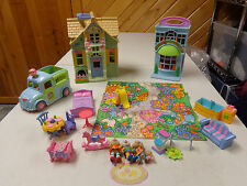 FISHER PRICE  SWEET STREETS DOLLHOUSE  COUNTRY COTTAGE MOUSE HOUSE  LOADED W PCS