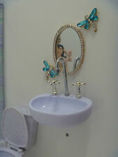 OOAK barbie Miniature High Class Princess Bathroom Mirror diorama 1/6 doll scale