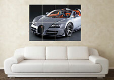 Large Bugatti Veyron Supersport Supercar Sport Car Wall Poster Art Picture Print