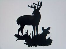 Whitetail Deer Rack Wall, Windows, Lap Top Vinyl Decal / Sticker, all colors