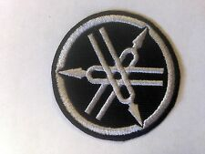 Iron On/ Sew On Embroidered Patch Badge Yam Bike Motorbike Circle Logo Black