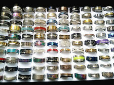Wholesale Bulk Lots 50pcs Mix Men's Women's Top Fashion Stainless Steel Rings