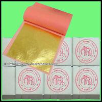600 x Blattgold - 45 x 45 mm - 24 Karat Gold auf Base - Veritabel Vergolden