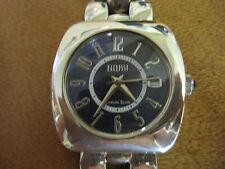#546 ladys sterling silver big face ECCLISSI watch bracelet
