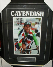 "MARK CAVENDISH UNSIGNED 8""x12"" CYCLING PHOTOGRAPH FRAMED"