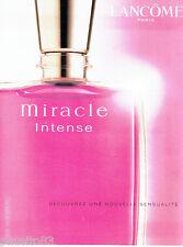 PUBLICITE ADVERTISING 056  2003    Miracle Intense parfum femme de Lancome