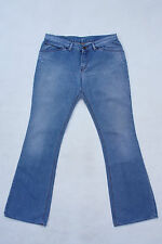 CK CALVIN KLEIN JEANS LADIES LIGHT BLUE DENIM JEANS BOOTCUT FADED W32 UK14 SUPER