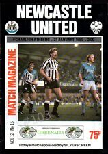 NEWCASTLE United v CHARLTON ATHLETIC Football Programme 21 January 1989