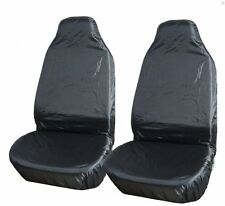 UNIVERSAL WATERPROOF FRONT BLACK PROTECTOR SEAT COVERS MPV CAMPER CAR VAN BUS