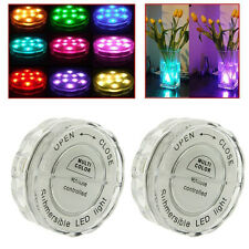 2x (10) LED Multi Color Waterproof Wedding Party Vase Base Light Floral Remote