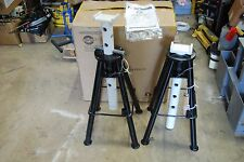 "OMEGA 32107 HEAVY DUTY JACK STANDS HIGH LIFT 10 TON 28 TO 47"" LIFT LOT OF 2 NEW"
