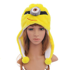 Cute Animal Women Men Children Kids Hat Plush FLUFFY Winter Warm Beanie Minion