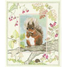 Derwenwater Designs Red Squirrel Cross Stitch Kit