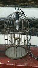 BIRD CAGE LIGHT/LAMP FARMHOUSE COUNTRY PLUG OR HARDWIRE HANGING OR TABLETOP NWOT