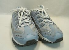 SKECHERS SPORT Womens Slip On Blue Leather Sneakers Athletic Shoes 9 M