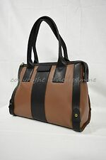 NWT! Fossil Leather Gwen Satchel  in Brown and Black MSRP $248