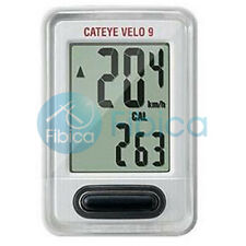 New CATEYE VELO 9 Digital CC-VL820 Cycle Computer Speedometer Silver