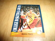 MARK PRICE AUTOGRAPH BASKETBALL CARD 1992 COLLEGE BASKETBALL GREATS #10 GA. TEC
