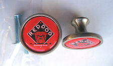 Red Dog Beer Cabinet Knobs, Red Dog Beer Logo Cabinet Knobs, Red Dog Knobs