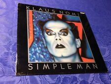 KLAUS NOMI (LP) SIMPLE MAN  [ORIG 1ST GERMAN 1982 RCA VINYL SYNTH NEW WAVE +OIS]