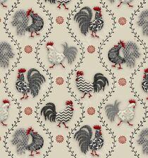 Fat trimestre poulets de Provence poules coqs 100% coton tissu de matelassage