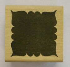 Rubber Stamp Fancy Solid Square - wood mounted DE