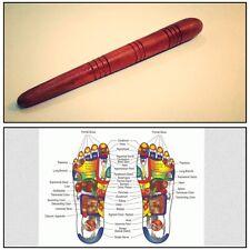 Reflexology Health Thai Foot Massage Wooden Stick Tool With Chart