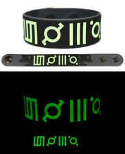 30 SECONDS TO MARS Rubber Bracelet Wristband Glows in the Dark Grey