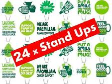 24 X MacMillan Cáncer Soporte STAND UPS Hada Cup Cake Toppers Comestibles Papel De Arroz