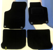 VW BEETLE QUALITY BLACK CARPET CAR MATS FROM 1999 - 2005 WITH OVAL CLIPS