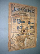 JUNIOR MECHANICS & ELECTRICITY. OCT 1919. MODELLING. TRANSPORT etc. MAGAZINE