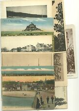 10 French Post Cards 6 Used 4 Unused Joan of Arc Mount St. Michel Le Harve VF+