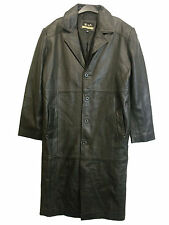 MEN`S REAL LEATHER COAT in BLACK COLOUR BY Z.S. LEATHER CRAFT SIZE M  (M-55)