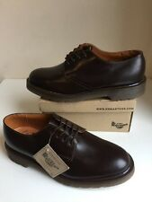 Bnwt! Sz7 Vtg England Dr. Martens 1462 Air Cushioned Brown Leather Shoes Eu41