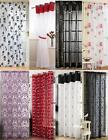 """Voile Panel Net Curtain 14 Great Designs 48"""" 54"""" 72"""" 90"""" ~ Many Patterns & Sizes"""