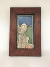 Medicine Bluff Little Owl Art Tile Arts & Crafts Mission Style Oak Park Frame